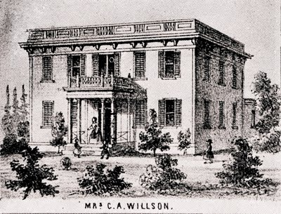 1854 William and Chloe Willson's home